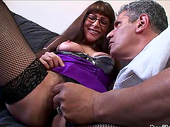 Alexandra Silk the sexy MILF riding..