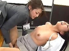Two amazing Asian lesbian girls have..