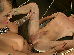 Tattooed Transsexual Fucking and..
