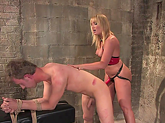 Dominatrix Pegging on a Guy Before..
