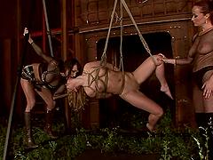 Three horny lesbians enjoy playing..