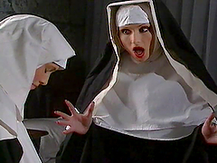 Horny Nuns Have A Lesbian Scebe With..