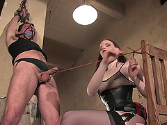 Bondage Fun For A Guy With A Hot..