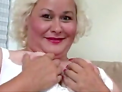 Blonde BBW Ends Up With Her Face..