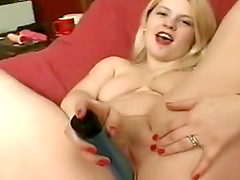 Chubby Blonde Teen Masturbates With A Vibrator
