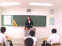 Japanese teacher Tsubomi gets her..