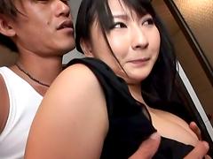 Busty Megumi Haruka sucks a dick and..