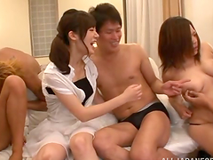 Japanese group sex can be so nasty..