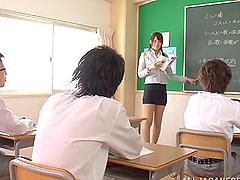 Lewd Japanese teacher Reo Saionji..