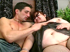 Slutty BBW Sucks A Big Cock Before Being Fucked
