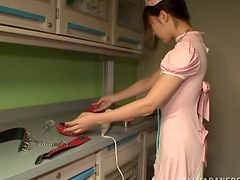 Tsubomi the hot housemaid gets her..