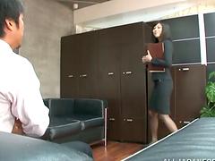 Miku Sunohara the sexy secretary gets..