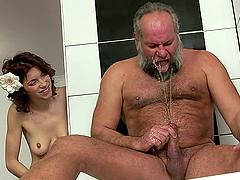 Brigitta gets fucked by an old dude in..