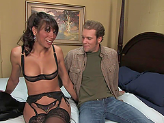 Gay Dude Is Fucked By A Sexy Shemale..