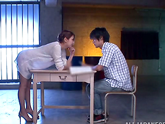 Naughty teacher Rina pleases her student