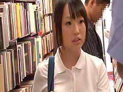 Hot Japanese girl in school uniform..