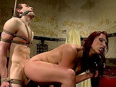 Horny Mistres Rides Her Slave's Big Cock