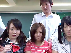 Nasty Japanese girls suck dicks and..