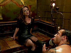 Horny Mistress Rides Her Slave's Big..