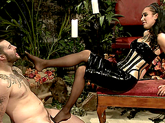 Horny Mistress Ends Up jerking Off Her..