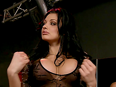 Sex addicted Aletta Ocean gets..