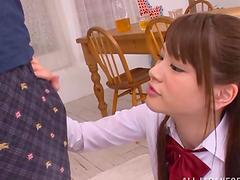 Nice Asian girl in school uniform..