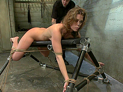 Sexy milf is tied and bound
