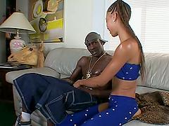 Horny ebony babe Lovely Lexi loves..