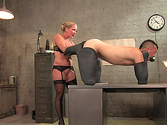 Hot Mistress Humiliates Her Slave To..