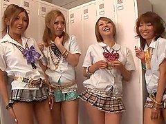 Divine schoolgirls are having a nice..