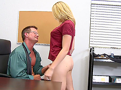 Naughty Blonde Teen Rides Her..
