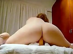 Horny Chick Masturbates With A Dildo