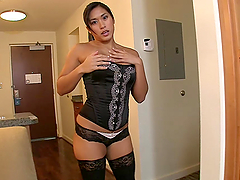 Asian Hottie Ends Up With A Messy Facial