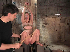 Sexy Blonde's Tortured By Her Master Before Being Fucked
