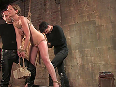 Hot Sex In A Bondage Scene With A Hot..