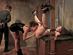 Sexy Slave's Tortured By Her Master..