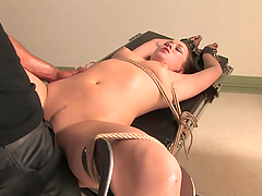 Bondage Fun With A Hot Brunette