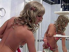 Horny blond babes are enjoying a hot..