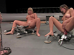 Hot Ladies Fuck Machines On Camera