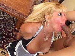Nasty maid Lexxy Foxx fucks her master..