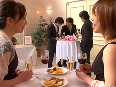 Japanese bride gets fucked by a few..