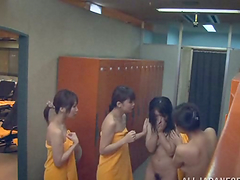 Amazing lesbian foursome by some..