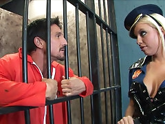 Pretty babe Britney Amber gives a..