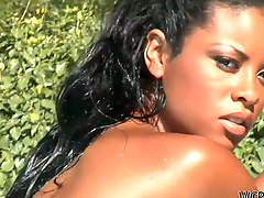 Sunshine Fuck By The Pool For An Ebony..