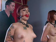 Sexy Ladies Have Fun In A Bondage Scene