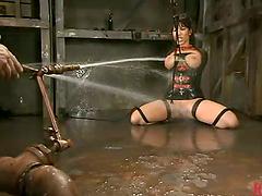 Big breasted Ava Devine gets tortured..