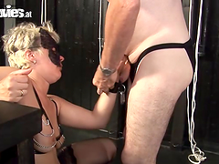 Two fetish mature ladies are having a..