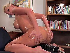 Blonde Pornstar Gets Stuffed By Cock..