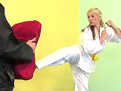 Blonde with Fighting Skills Getting..
