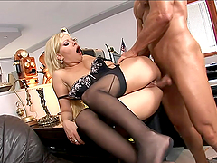 Rough Anal Sex In The Office For Donna Bell